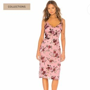 🔥LPA X Revolve NWT Tie Back Tank Dress in Roses
